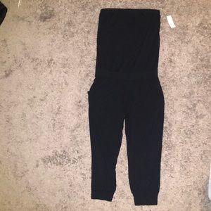 NY&Co Black Bandeau Blouson Jumpsuit NWT